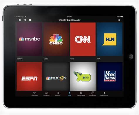 tv comcast comcast xfinity tv go app will allow live tv anywhere