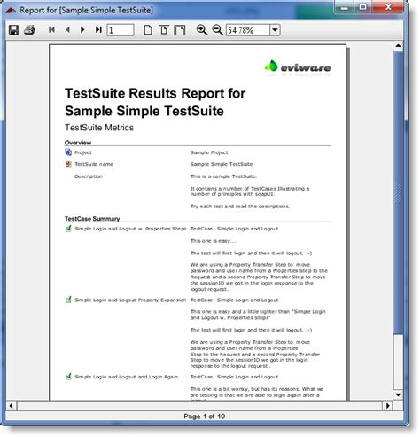 test result report template getting started with reporting reporting
