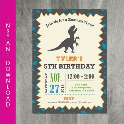 29 Dinosaur Birthday Invitation Templates Psd Ai Vector Eps Free Premium Templates Editable Birthday Invitations Templates Free