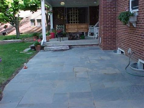 after pennsylvania blue flagstone patio progressive