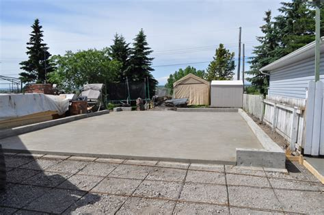 Cost Of Concrete Pad For Garage by Goodstone Calgary S Concrete Contractors