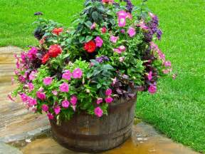whiskey barrel planter garden and yard ideas