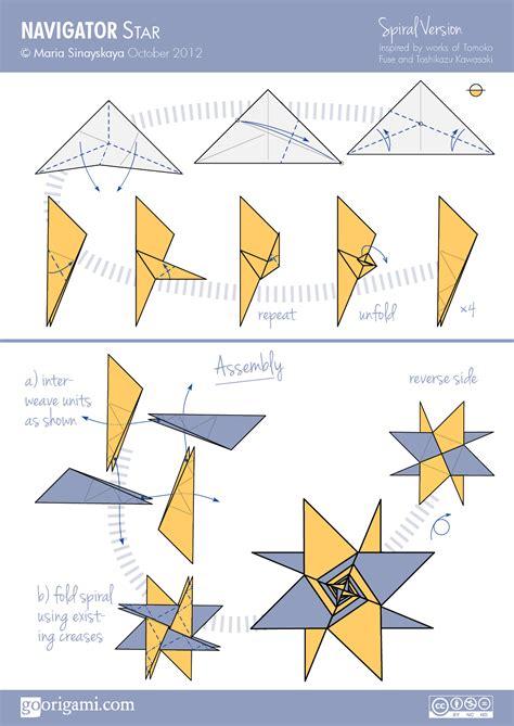 Origami Models To Make - navigator by sinayskaya diagram go origami