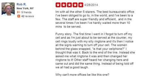 Social Security Office Nyc by 10 Of The Funniest Yelp Reviews Of Government 187 Community