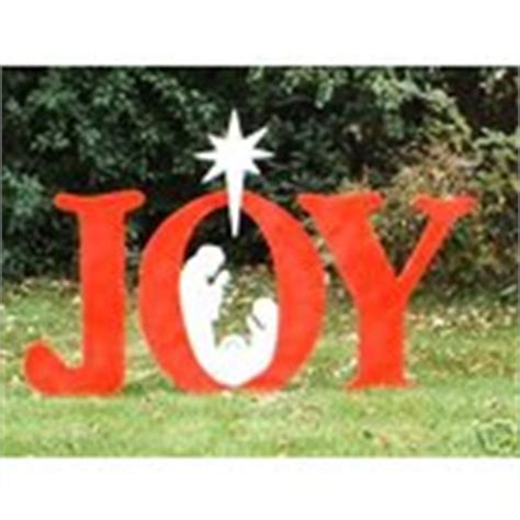 Joy Nativity Scene Christmas Yard Art Lawn Display 11 23 2007 Nativity Yard Sign Template