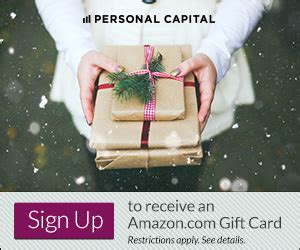 Capital One Amazon Gift Card - personal capital black friday cyber monday 50 000 amazon gift card bonus