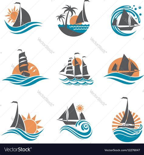 sailboat icon free vector sailboat and yacht icons vector by alexkava image