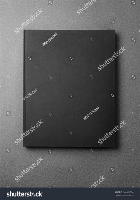 Black Book Search Black Book Cover On The Gray Background Stock Photo 363804524