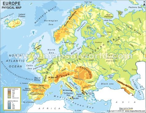 physical map europe physical map of europe maps geography