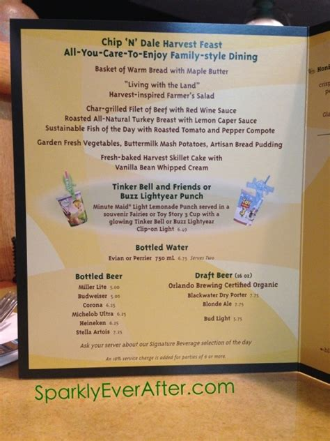 Garden Grille Menu by A Of Dining At The Garden Grill Restaurant At Epcot Sparklyeverafter