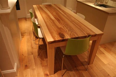 Handmade Kitchen Tables - bespoke handmade contemporary dining table quercus furniture