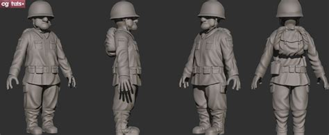zbrush tutorial clothes sculpting clothing accessories for a soldier character