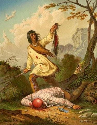 native american indian pictures: american indian scalping