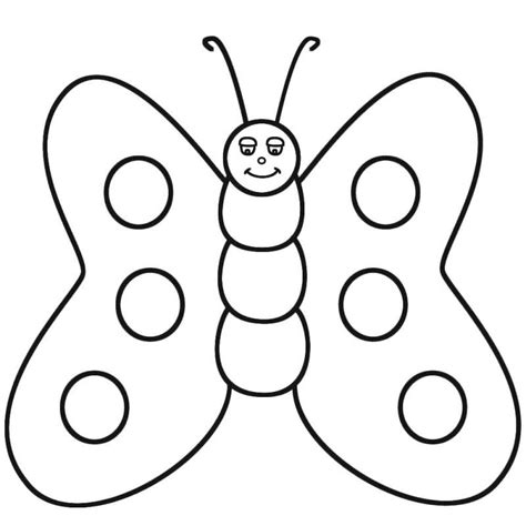 butterfly to color coloring home