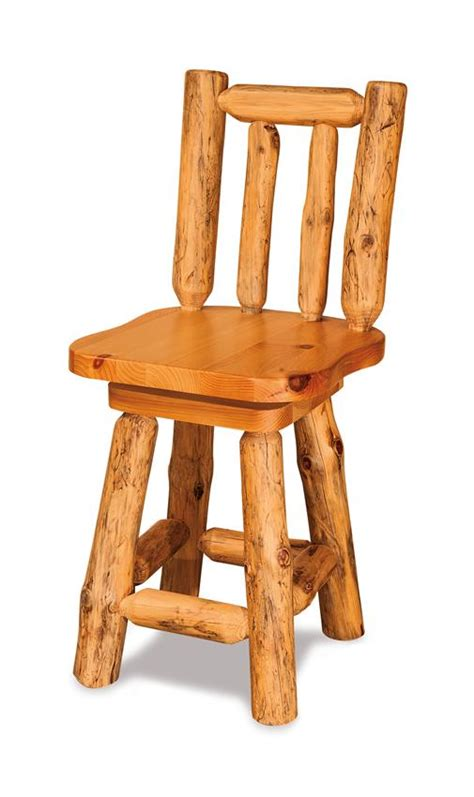 rustic bar stools swivel amish rustic pine bar stool with swivel