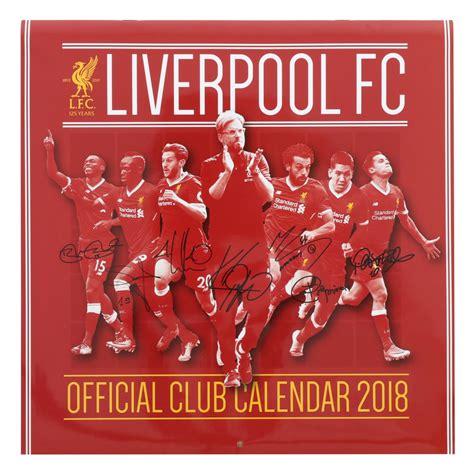 lfc calendar 2018 liverpool fc official store