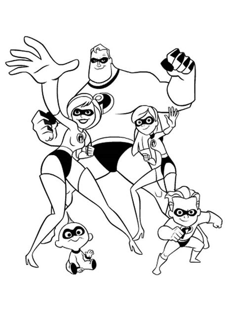 Coloring Page Incredibles by Mr Free Colouring Pages