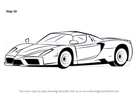 car ferrari drawing learn how to draw a ferrari enzo sports cars step by