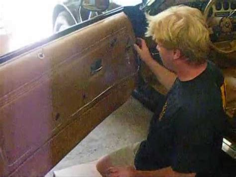 'how to' install new replacement door panels on 1970