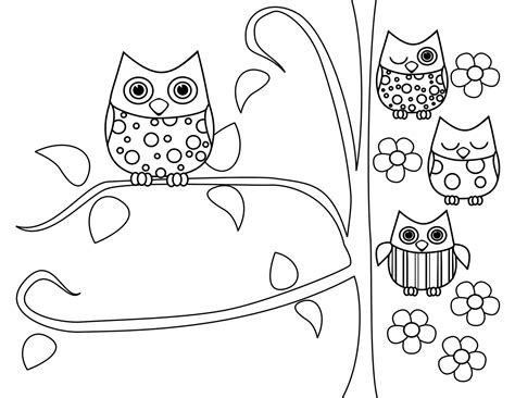 cute owl coloring pages to print owl coloring pages bestofcoloring com