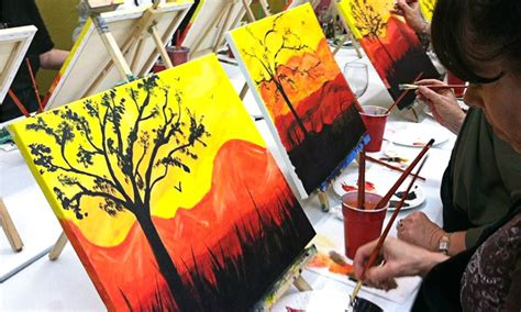 groupon paint nite byob sip paint byob painting event colors to cocktails sip