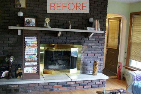 Transforming A Brick Fireplace by 10 Gorgeous Ways To Transform A Brick Fireplace Without