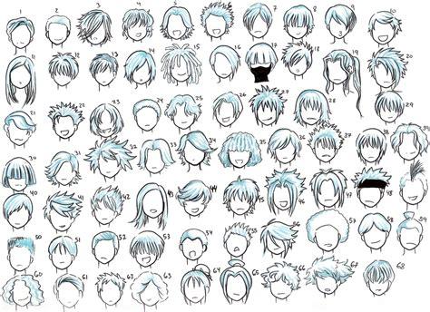 anime ninja hairstyles como desenhar mang 225 gabaritos de cabelos