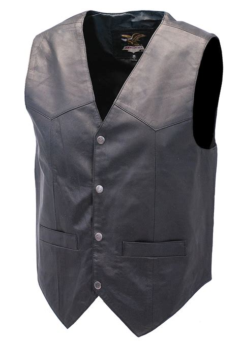 leather vest premium black dress lambskin leather vest for from