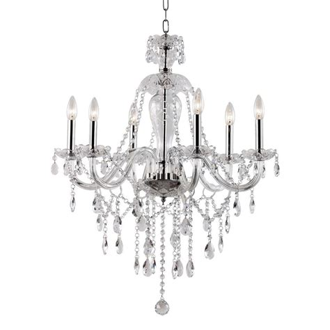6 light crystal chandelier fifth and main lighting 6 light polished chrome chandelier