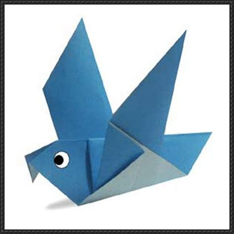 Basic Paper Folding - new paper craft how to fold a simple origami pigeon on