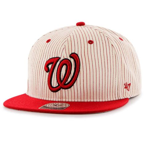 47 brand washington nationals mlb woodside stripe snapback