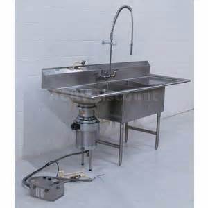 Discount Kitchen Faucets Used 2 Compartment Commercial Sink W Db Amp Garbage