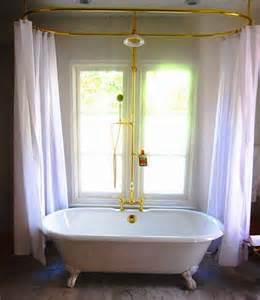 wrap around shower curtain clawfoot tub choosing right shower curtains for clawfoot bathtubs