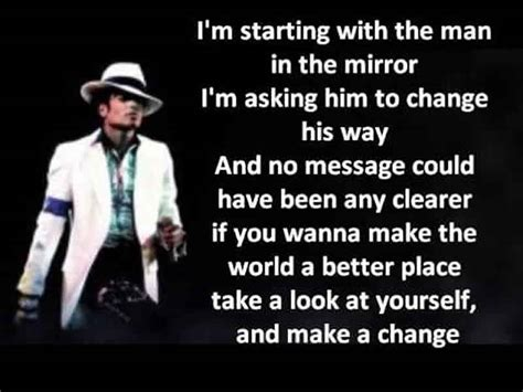make the world a better place lyrics motivational song in the mirror by michael jackson
