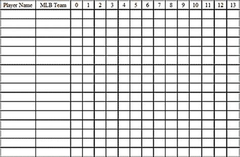 13 Run Pool Spreadsheet by 13 Run Mlb Baseball Office Pool