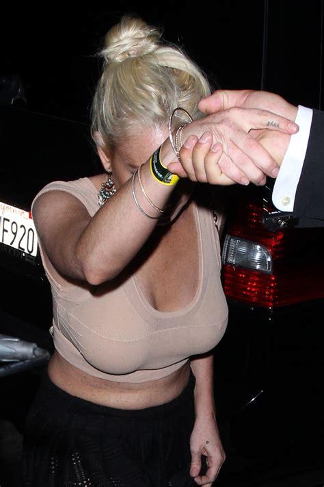 K Fed And Lindsay Lohan by Lindsay Lohan Cleavage 01 Gotceleb