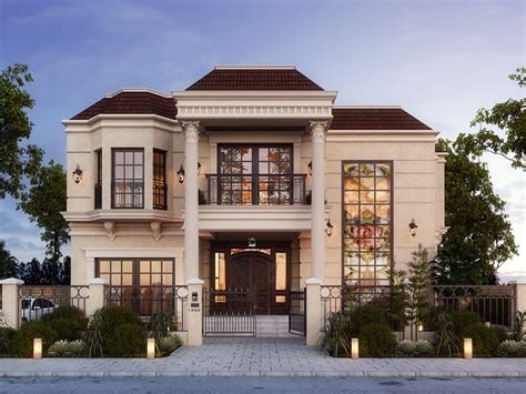 exterior home designs with special facade appearance lake view villa on behance exterior mediterranean villa