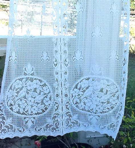 french country lace curtains white french country lace curtain panel
