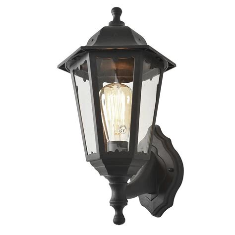 Outdoor Lantern Lights Uk Neri Outdoor Polycarbonate Wall Lantern Black From Litecraft