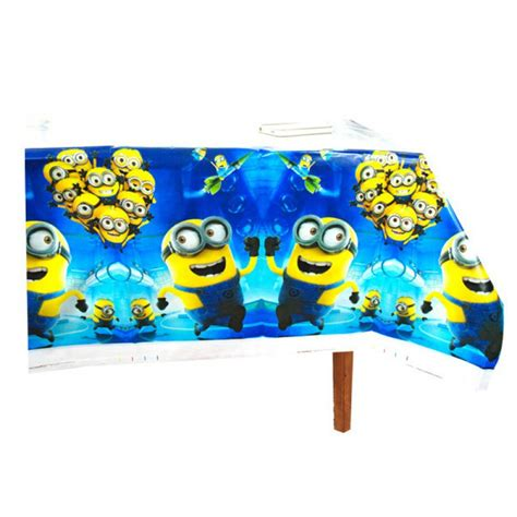minions theme table cover