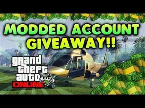 gta 5 modded accout giveaway 50 accounts your christmas