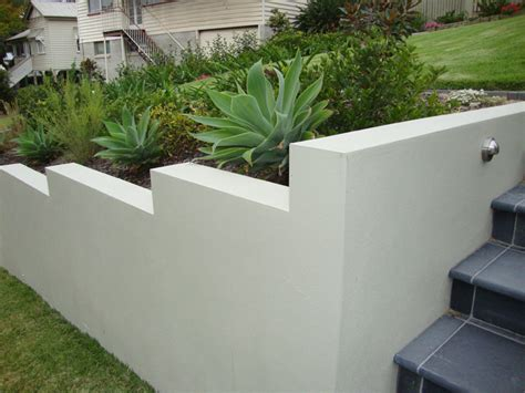 Retaining Walls Scenic Scapes Landscaping Rendered Garden Wall