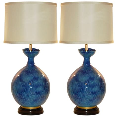 Murano Glass Wall Sconce Huge Vintage Italian Ceramic Table Lamps By Marbro At 1stdibs