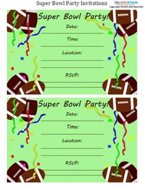 super bowl invitation templates best template collection