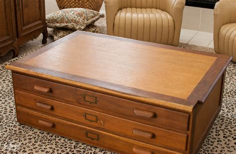 file cabinet coffee table found antique oak flat file cabinet the gathered home