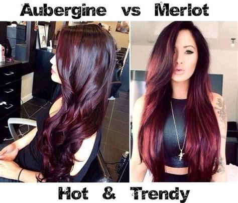 merlot hair color trendy aubergine vs merlot hair color cabello