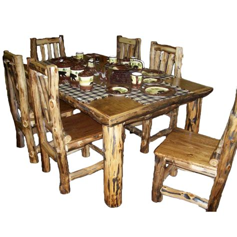 dining table 72 x 36 aspen log furniture 36 inch x 72 inch aspen dining table