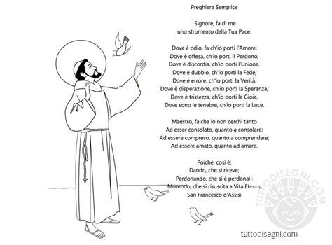 preghiera semplice testo preghiera san francesco tuttodisegni