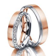 Eheringe Im341 Mit 11 Diamanten Rosegold Und Weissgold Bicolor Poliert by Hochwertige Eheringe In 585 Graugold Gr 252 Ngold Damenring