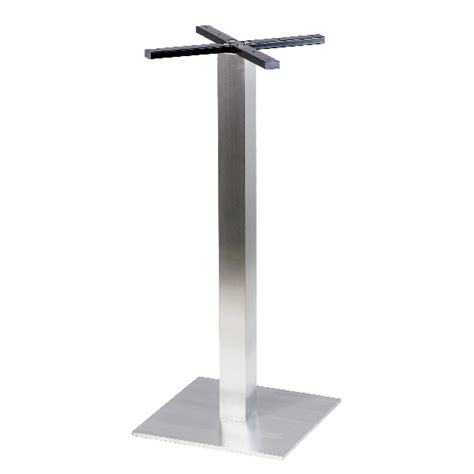 pied de table haute mange debout en inox bross 233 base
